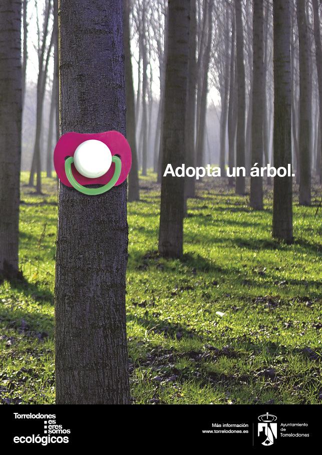 anuncio adopta un arbol