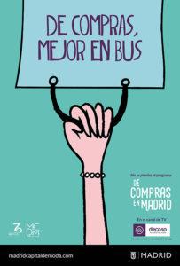 """Ayuntamiento de Madrid """"De compras, mejor en bus"""""""