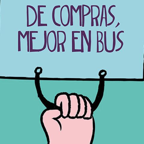 De compras mejor en bus